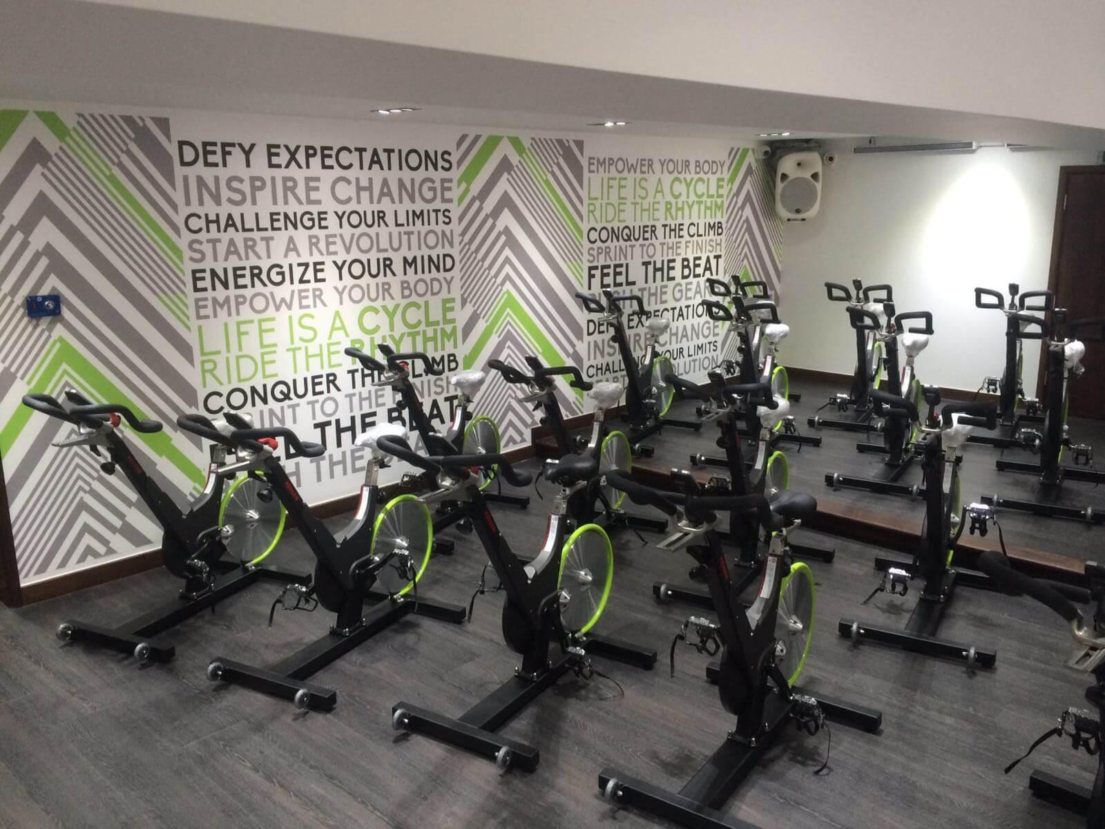 cycle studio gym refurbishment